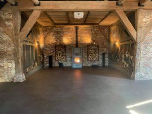 Cortenstaal houtberging